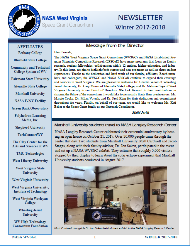 Winter 2017-2018 Newsletter